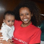 Visiting an orphanage in Addis Ababa.