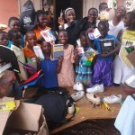 The students are happy to receive supplies and clothes that were shipped by Age of Awareness